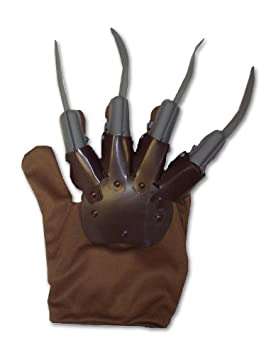 Henbrandt Brown Freddy Krueger Glove With Grey Plastic Claws ...