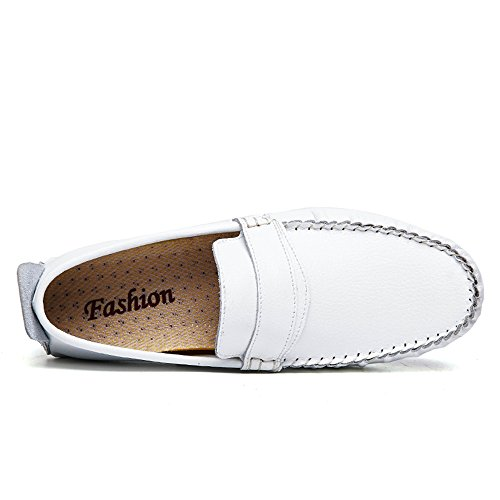 Slip Blanco Moccasins 42 Sunny tamaño Loafer EU Grant Penny Antideslizante Casuales on Hombre Canoe Color amp;Baby Zapatos Azul RqSYq8UwB