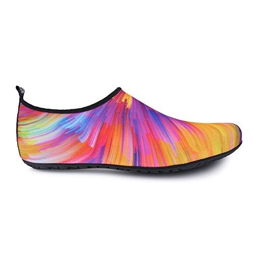 Newcosplay Barfota Skor Snabbtorkande Yoga Strumpor Slip-on För Kvinnor Män Barn Orangecolorful