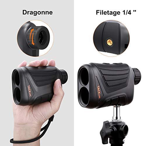 Télémètre Golf 800m, TACKLIFE Télescope Monoculaire Chasse 900yd MLR01, Grossissement 7x24mm, Précision de Distance 1m… 3