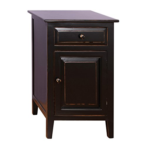 Antique Revival Evelynn Nightstand, (Black Antique Stand)