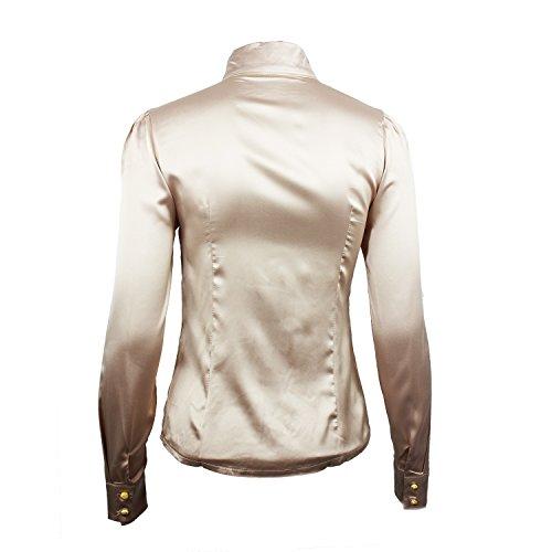 Nonbrand - Camisas - Button Down - Básico - con botones - para mujer Beige