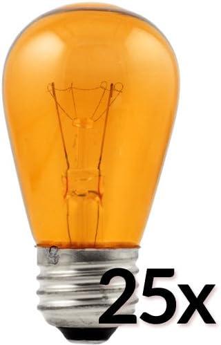 by PaperLanternStore Fantado Transparent Blue 11-Watt Incandescent S14 Sign Light Bulbs 25 Pack E26 Medium Base