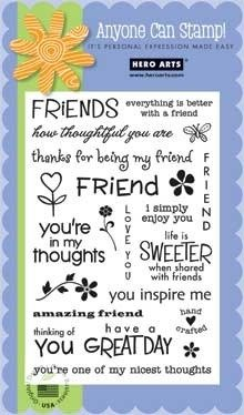 Price comparison product image Hero Arts Friends Stamp Set, Clear