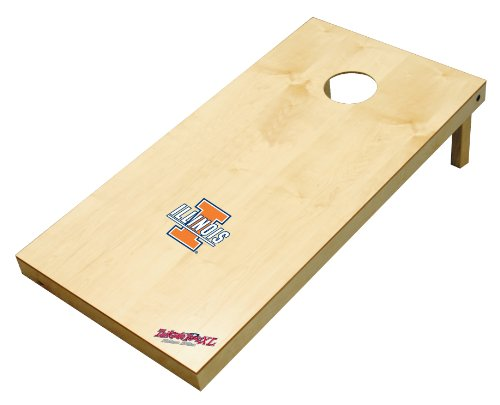Wild Sports NCAA College Illinois Fighting Illini 2' x 4' Authentic Cornhole Game Set - Illinois Fighting Illini Bean Bag