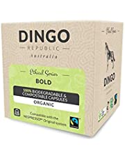 80 Bold Biodegradable Pods for Nespresso* | Organic Coffee in Compostable Capsules | 9/10 by Dingo Republic