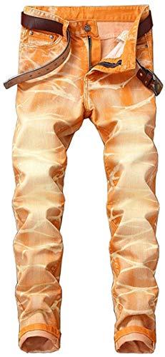 R Especial Distrutto Jeans W29 Cher Coscia 10 Slim Fit Uomo Estilo Dritto Pantaloni Strappato W42 Classic Denim Buche Colori Stonewash Casual Biker Marea azHOwEq