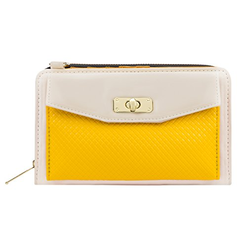 Envelope Clutch Cream/Yellow for HTC Phones by Vangoddy (Image #9)