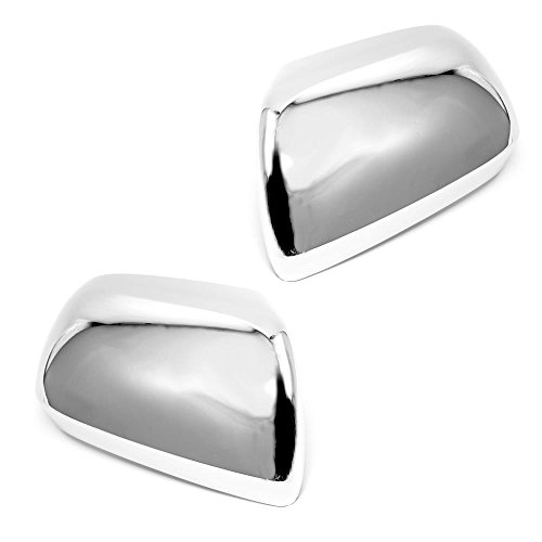 Sizver Chrome Door Mirror Covers For 2012-2015 Toyota Tacomaw/o turn -