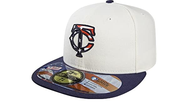 fade9e3586f Amazon.com   MLB Minnesota Twins Stars and Stripes Authentic On Field Game  59FIFTY Cap