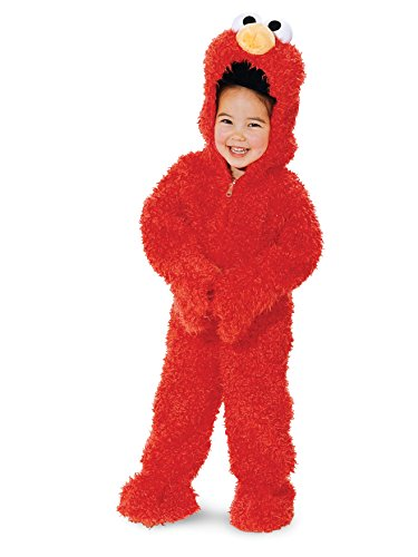 (Elmo Deluxe Plush Toddler Costume - Toddler Medium)