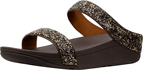 Microfiber Slide Sandals Gold 11 ()