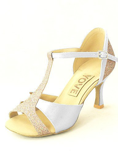 ShangYi Customizable Women's Dance Shoes Latin/Salsa Satin Customized Heel Black/Blue/Yellow/Pink/Purple/Red/White/Fuchsia pink kdg0rVHyj