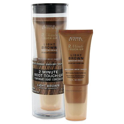 Alterna Stylist 2 Minute Touch Up Temporary Root Concealer, Light Brown, 1 Ounce