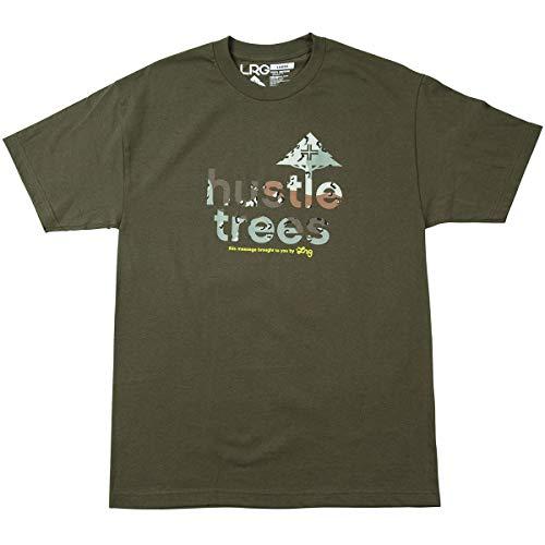 (LRG Men's Hustle Trees Camo Shirts,Medium,Military)