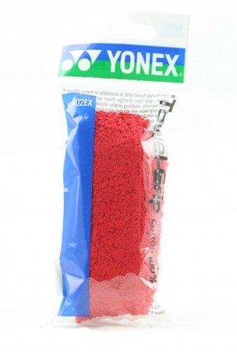 Yonex AC 402EX Cotton Badminton Towel Grip  Red