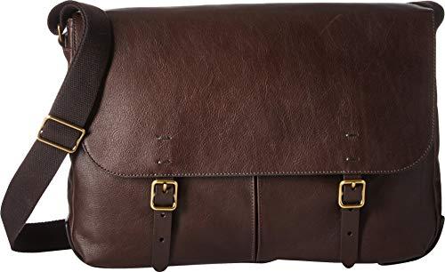 Fossil Men's Buckner Leather Messenger Bag, Dark Brown