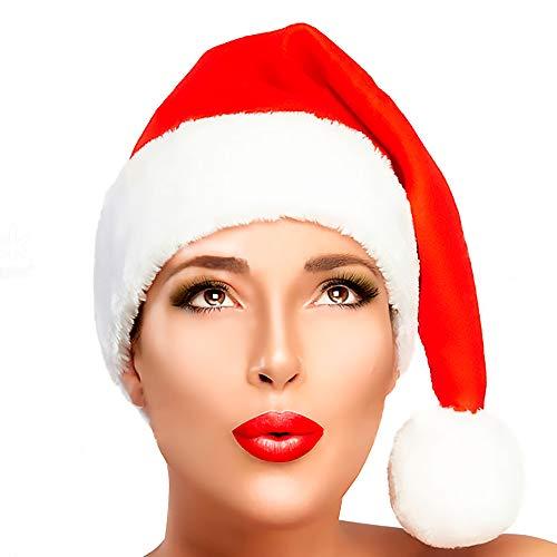 New Cozy House Merry Christmas Hat – mrs Santa Cruz Hats Adults Women & Men Soft Red Plush