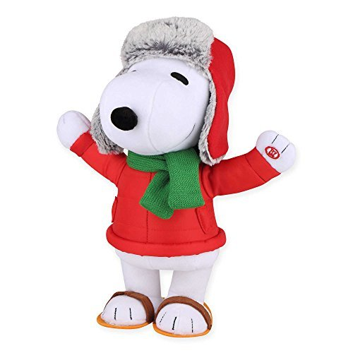 Gemmy Snoopy Side-Stepper Green Scarf and Hat ()