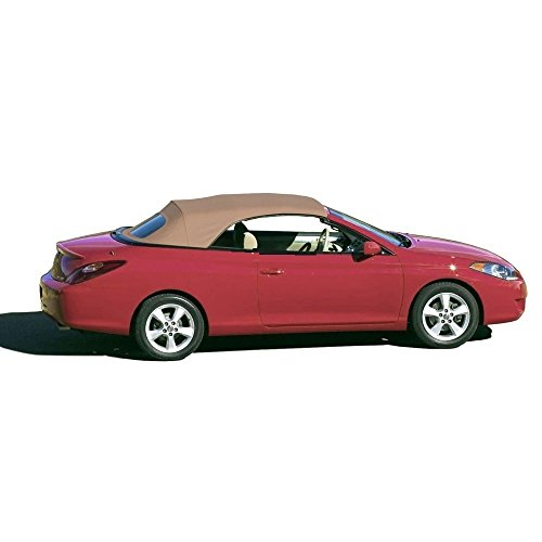 (Compatible With Toyota Solara Convertible Soft Top & Glass Window 2004-2009 Stayfast (Tan))