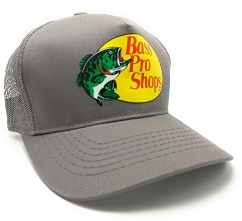 Bass Pro Shops Mesh Logo Fishing Hat -Grey Adjustable, (Logo Shop)