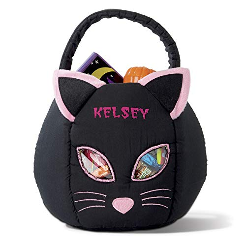 Lillian Vernon Cat Personalized Halloween Treat Bag -