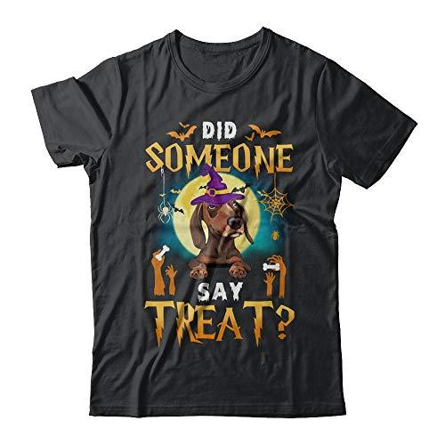 TeesPass Unisex Did Someone Say Treat Dachshund Halloween Costume Shirt Gildan - Short Sleeve Tee (Black, S) ()