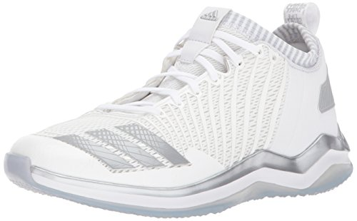adidas Performance Men's Icon Cross-Trainer-Shoes, White/Metallic Silver/Light Grey, 10.5 Medium US