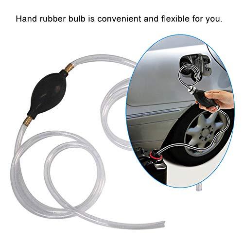 Gallocabe Rubber Fuel Transfer Vacuum Fuel Line Hand Primer Pump Bulb Type