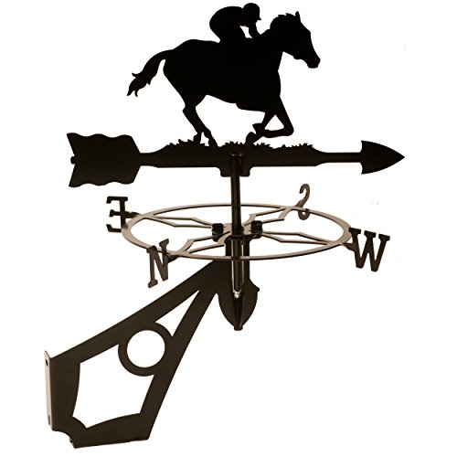 Dragon-Laser-Ltd-Horse-Jockey-Weathervane-WITH-ANTI-RUST-COATING