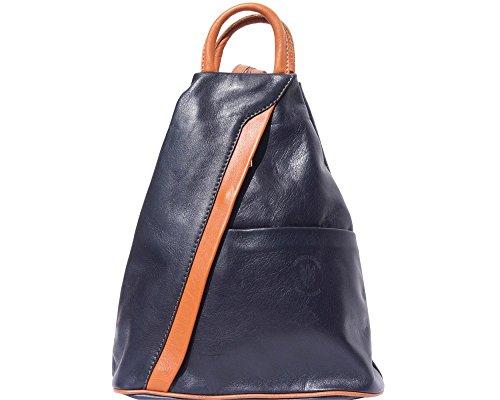 - LaGaksta Submedium Fashion Leather Backpack Purse Shoulder Bag Dark Blue-Leather