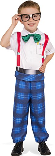 Rubies Costume Child's Nerd Boy Costume, X-Small, Multicolor (Toddler Nerd Costumes)