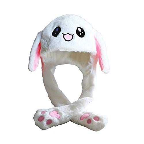 COSHAYSOO Hat Cute Plush Bunny Funny Moving Ear Hat Moving Rabbit Ears Gifts for Kids