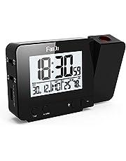 FanJu FJ3531 Projektionswecker mit Temperatur und Zeit-Projektion/USB-Ladegeräte/Innentemperatur und Luftfeuchtigkeit/DCF Automatische Zeitanpassung
