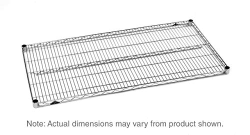 "Metro 2448BR Super Erecta Brite Steel Industrial Wire Shelf, 800 lb. Capacity, 1"" Height x 48"" Width x 24"" Depth (Pack of 4)"
