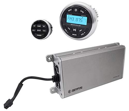 Memphis Audio 16-MXA4.45 280w 4-Channel Amplifier+Bluetooth Receiver+Remote