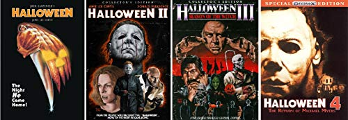Halloween 1,2,3 and 4 Dvd Set, Halloween1, Halloween 2 , Halloween 3 Season of the Witch, and Halloween 4 the Return of Michael Myers