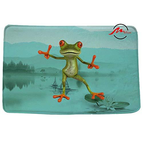 Felt Hip Hop (ZMvise Hip Hop Frog Non-Slip Bath Shower Area Rug Floor Door Mats Front Entry Carpet Indoor Doormat Outdoor)
