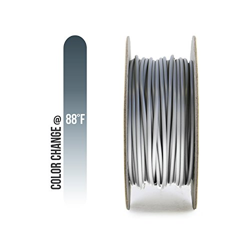 Gizmo Dorks PLA Filament 1.75mm 200g for 3D Printers, Heat Color Change Gray to White