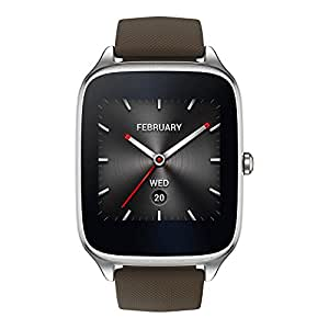 ASUS ZenWatch 2 WI501Q (BQC) Smart Watch - International Stock - Silver Case with Brown Rubber Band