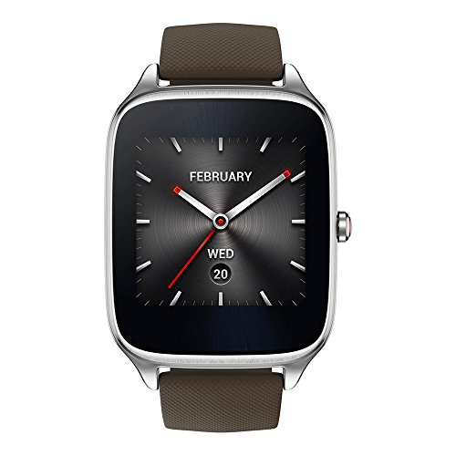 ASUS ZenWatch 2 WI501Q (BQC) Smart Watch - International Stock - Silver Case with Brown Rubber Band by Asus