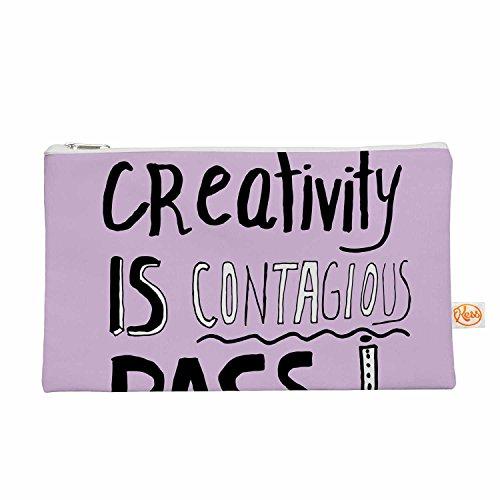 Kess eigene 12,5x 21,6cm vasare Nar Kreativität ist ansteckend Alles Tasche–Lavendel