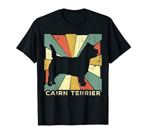 Cairn Terrier Dog Shirt Retro 70s Vintage Gift T-Shirt