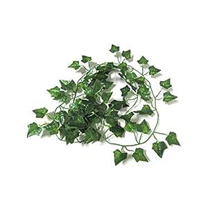 MARJON FlowersNew Garden Home Decor Fake Plant Green Ivy Leaves Vine Foliage Artificial Flower-Sweetpotato Leaves 115