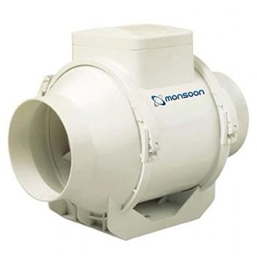 National Ventilation UMD100T Mixed Flow In-Line Extractor Fan with Timer