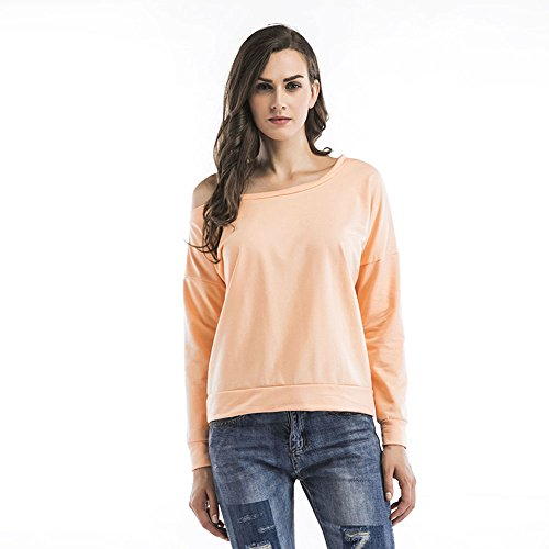 Da Ben Tai Ladies Sexy Strapless Blouse Size Long Sleeved T-shirt in autumn (Small, Shrimp (Top 50 Movies To Watch On Halloween)