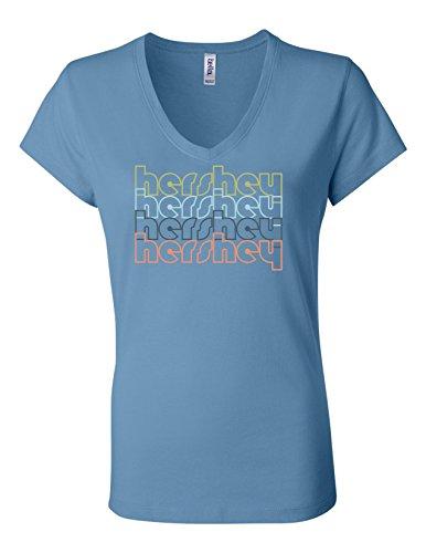 hershey-pennsylvania-retro-6005-womens-premium-v-neck-t-shirt-humorous-t-light-blue-medium