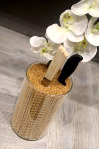 Vaso porta coltelli in bamb/ù Cookut colore trasparente