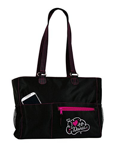 Dance Embroidered Tote (Horizon Dance 7030 Abby Embroidered Dance Tote Bag)