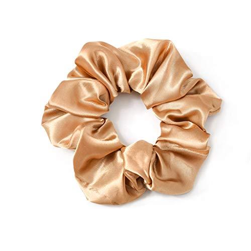 ballboU-Women Ladies Modern Large Intestine Shape Hair Rope, Elegant Metallic Glitter Solid Color Rubber Band Scrunchies